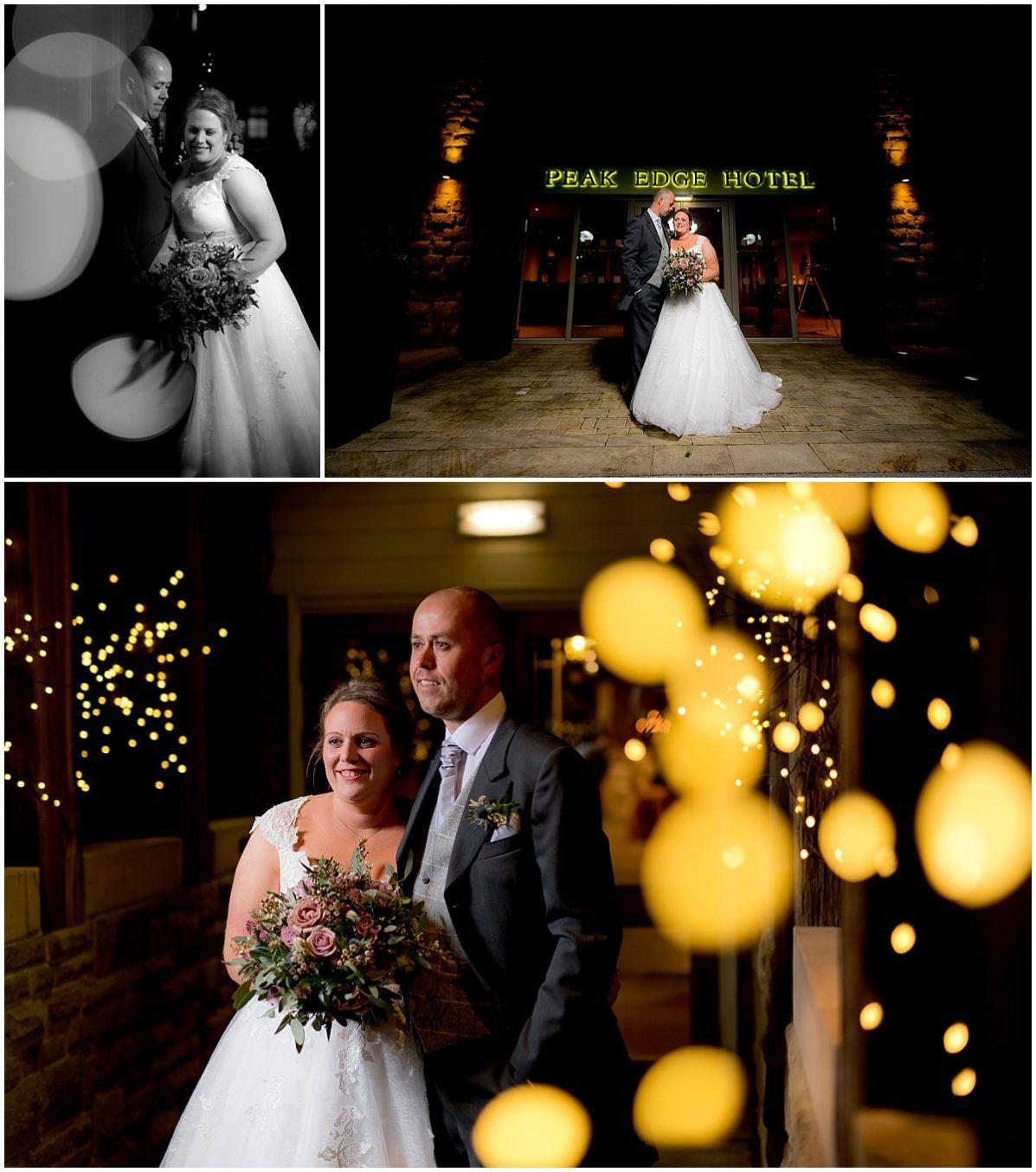 Peak Edge Hotel bride and groom