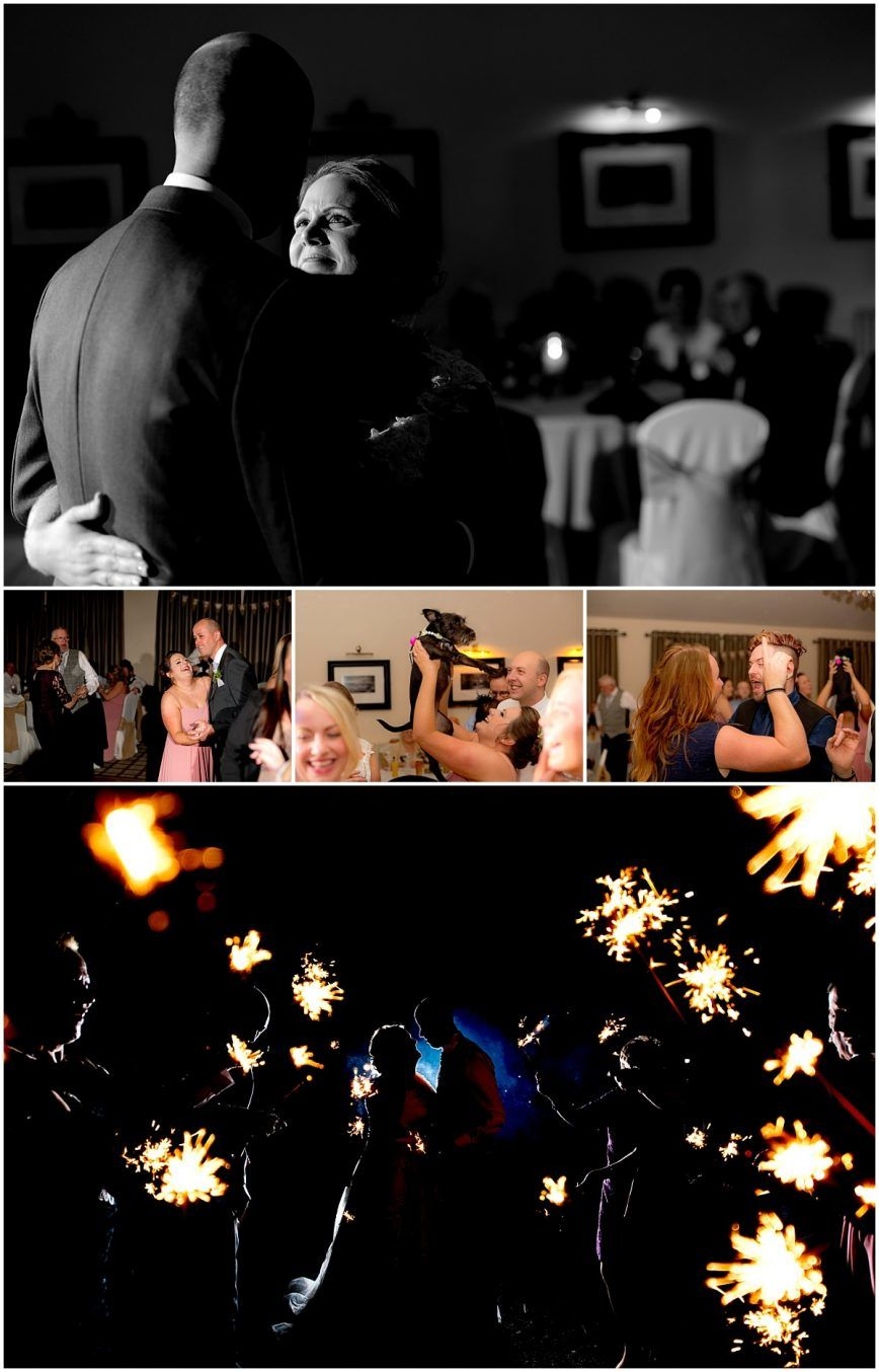 Peak Edge Hotel Wedding sparklers