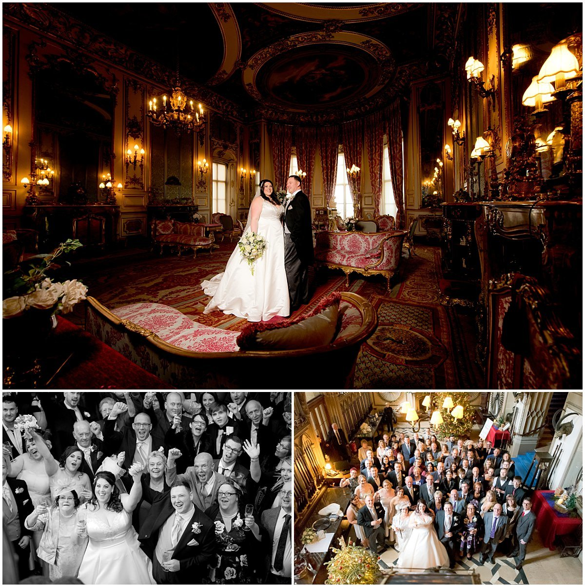 Bride and groom at Belvoir Castle