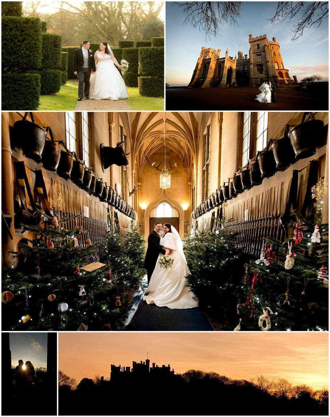 Bride and groom photographs at Belvoir Castle