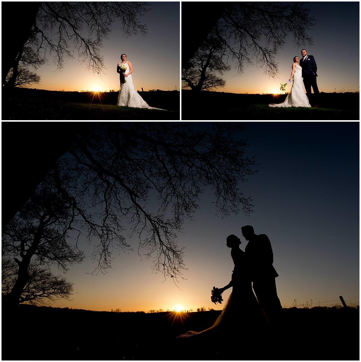 Sunset Shottle Hall Wedding Photography