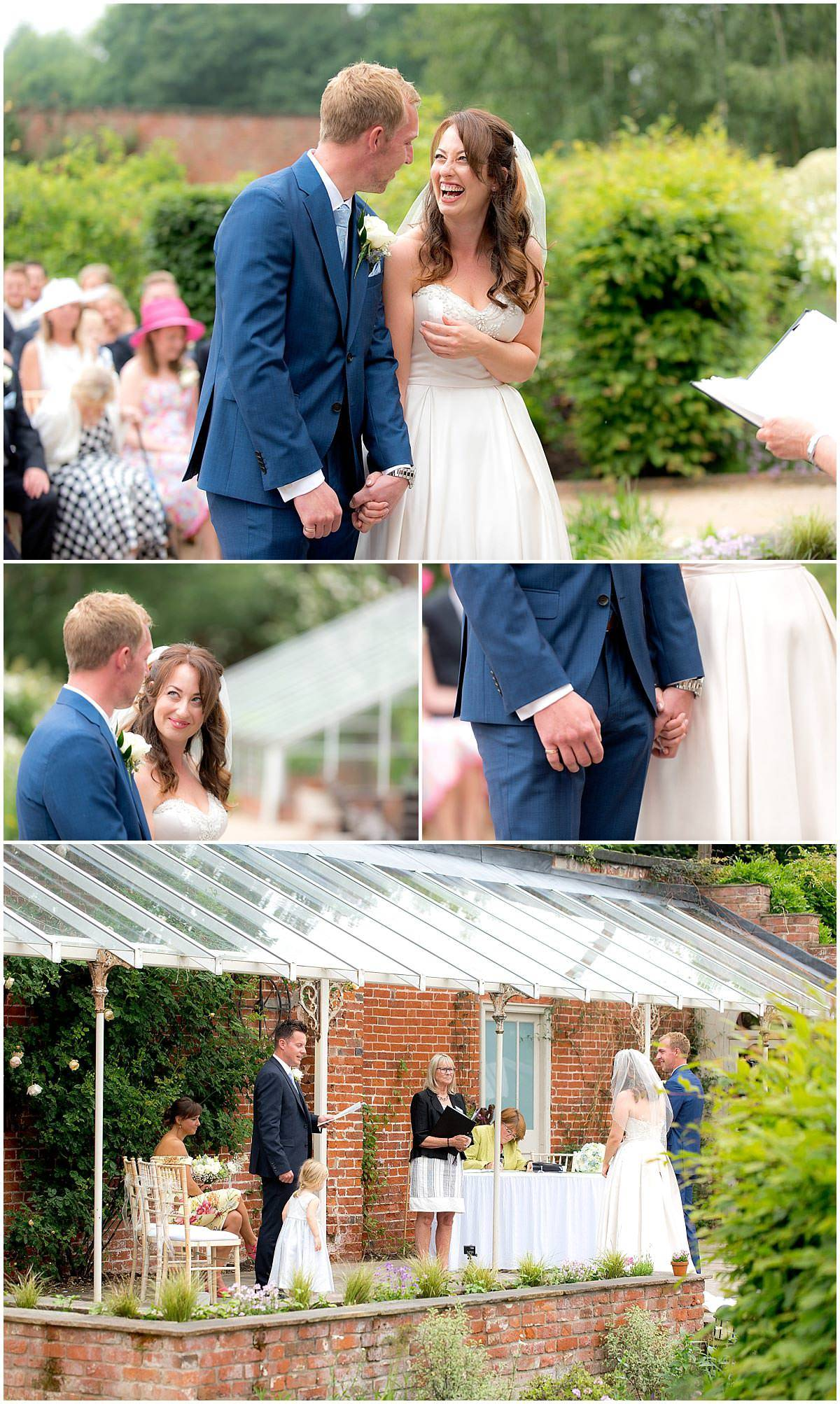 The Walled Gardens Outdoor Wedding ceremony