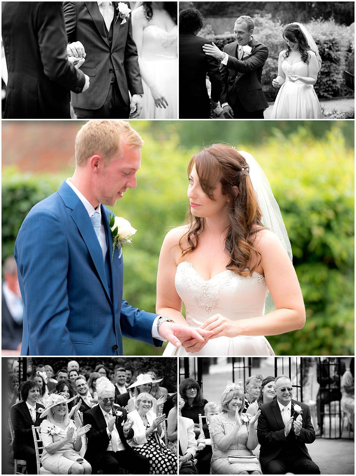 The Walled Gardens Wedding ceremony