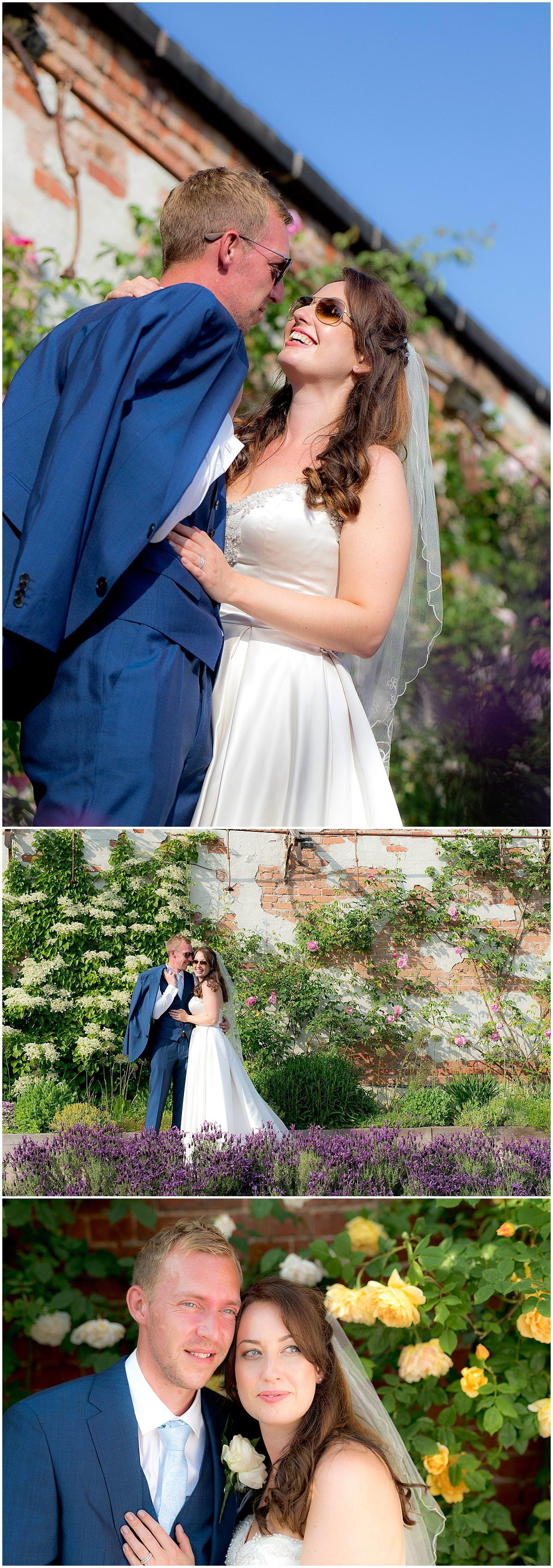 Outdoor Walled Garden Bridal Portraits