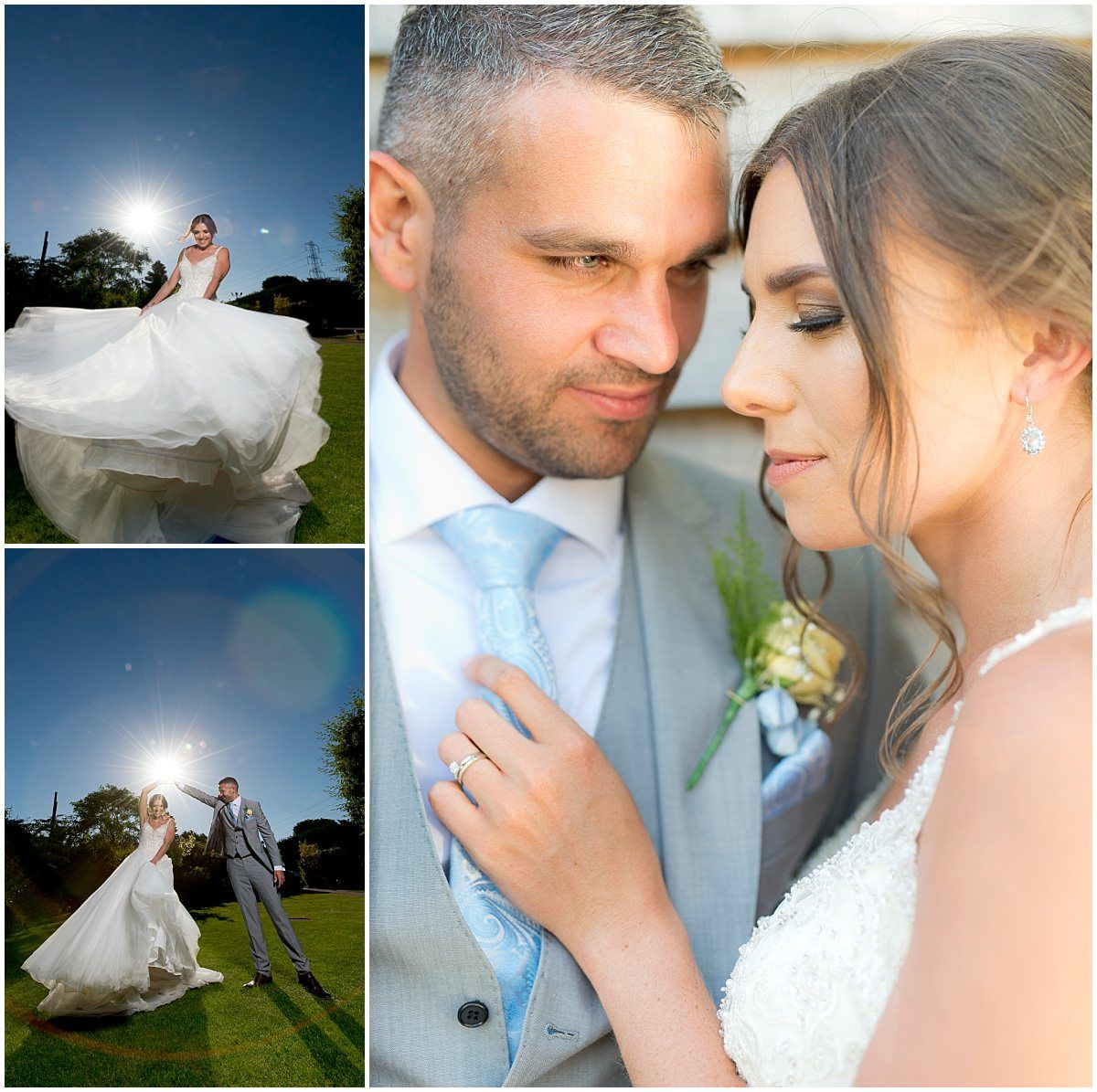 Bride and groom portraits at The Carriage Hall