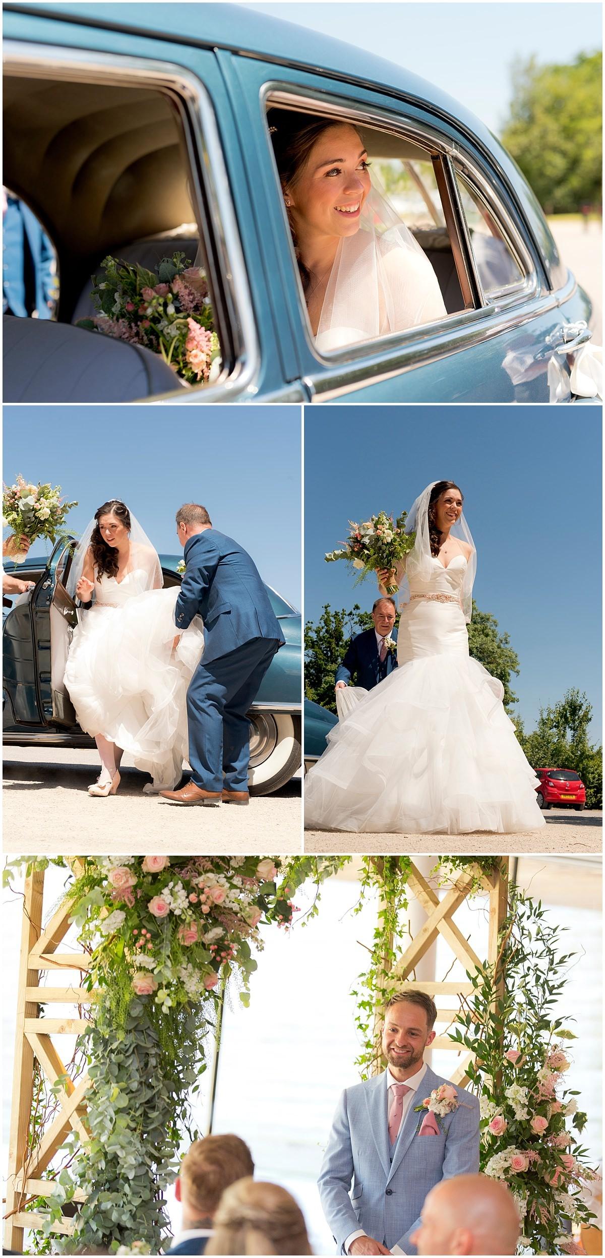 Bride arriving at Twycross