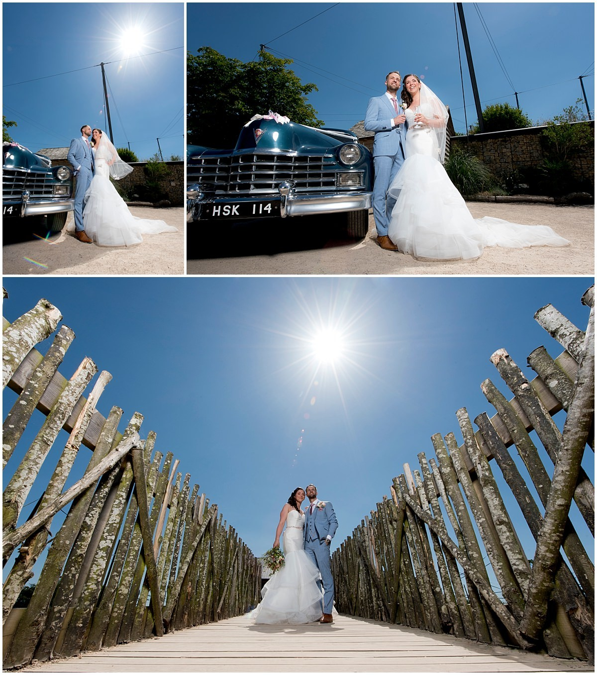 Bride and Groom at Twycross Zoo