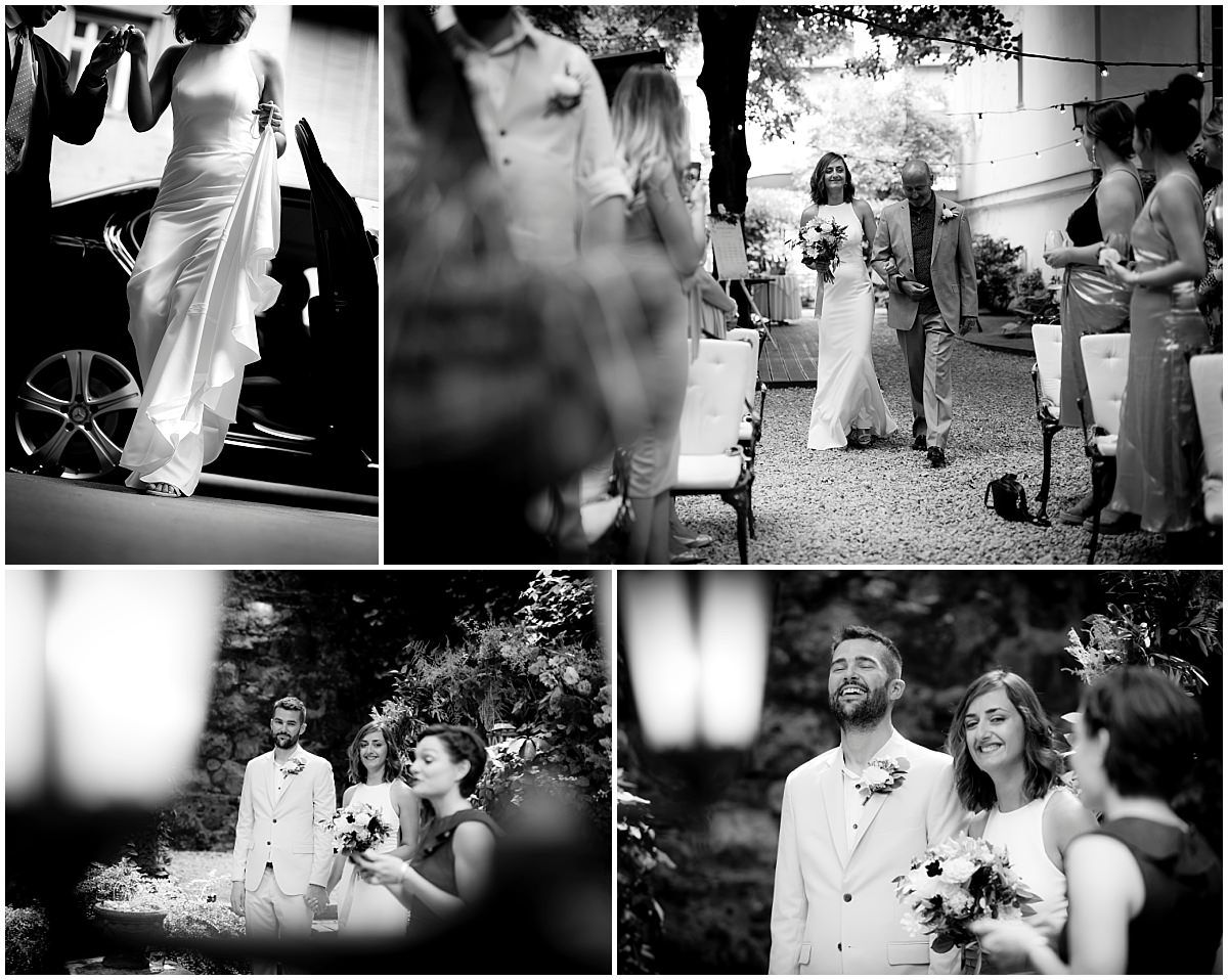 Budapest Wedding ceremony black and white