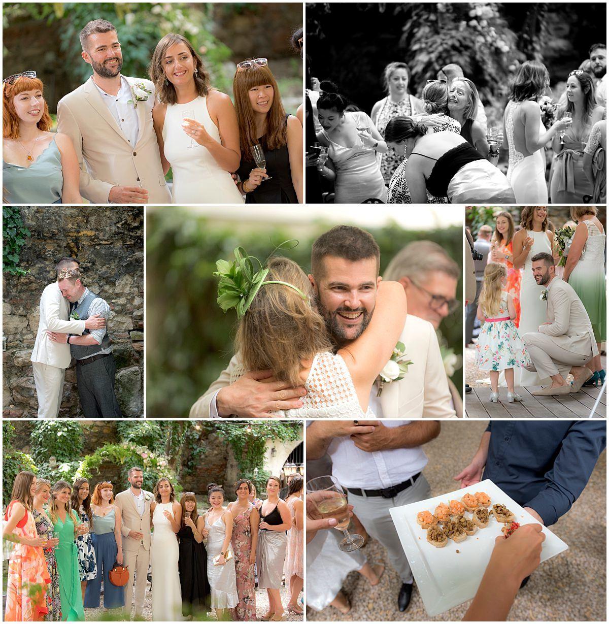 candids of wedding guests