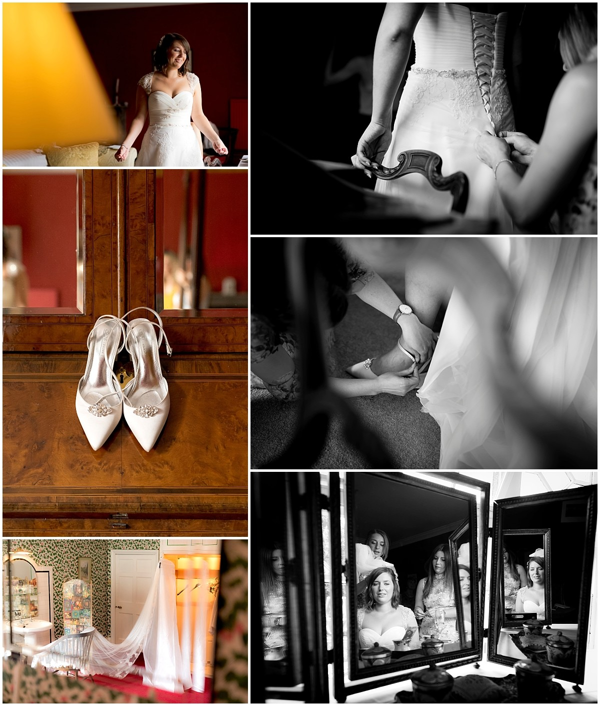 Thrumpton Hall Bridal preparations