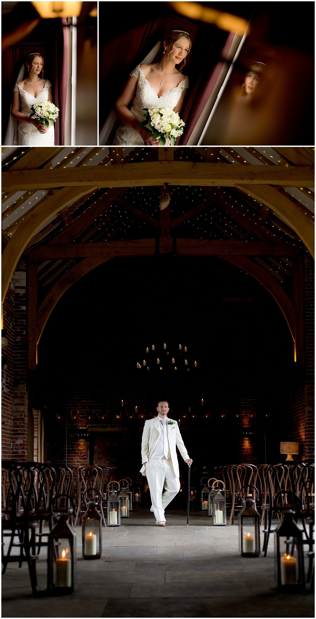 Groom portrait in venue