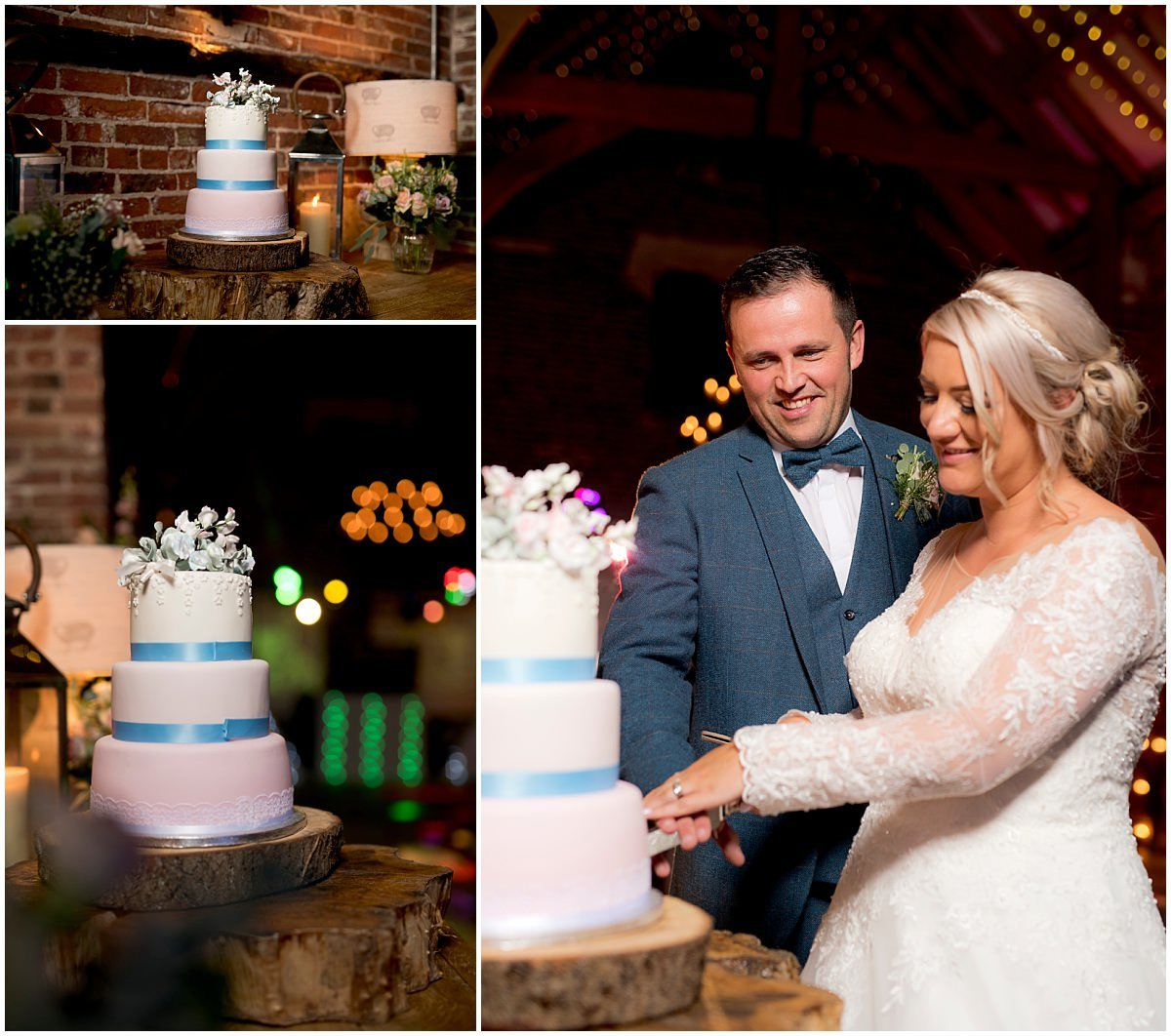 Wedding cake at Hazel Gap Barn