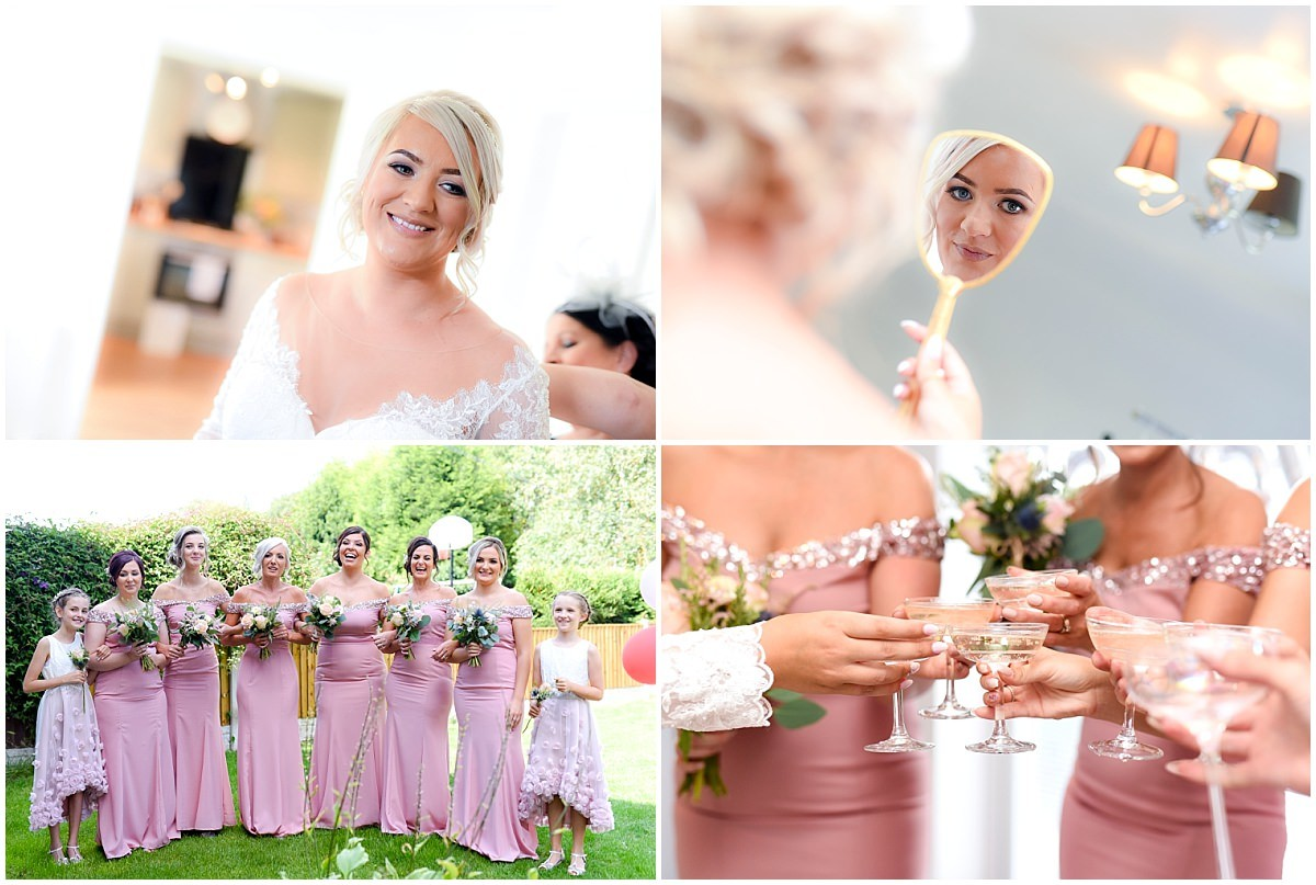 Bridal Prep and bridesmaids