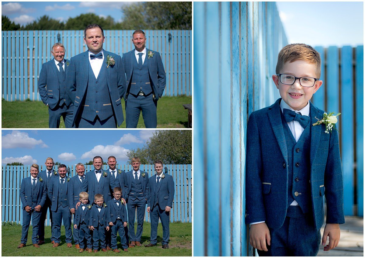 Grooms-men portraits