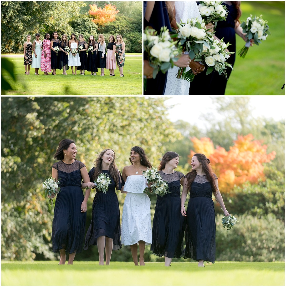 Bridesmaids portraits at Yeldersley Hall