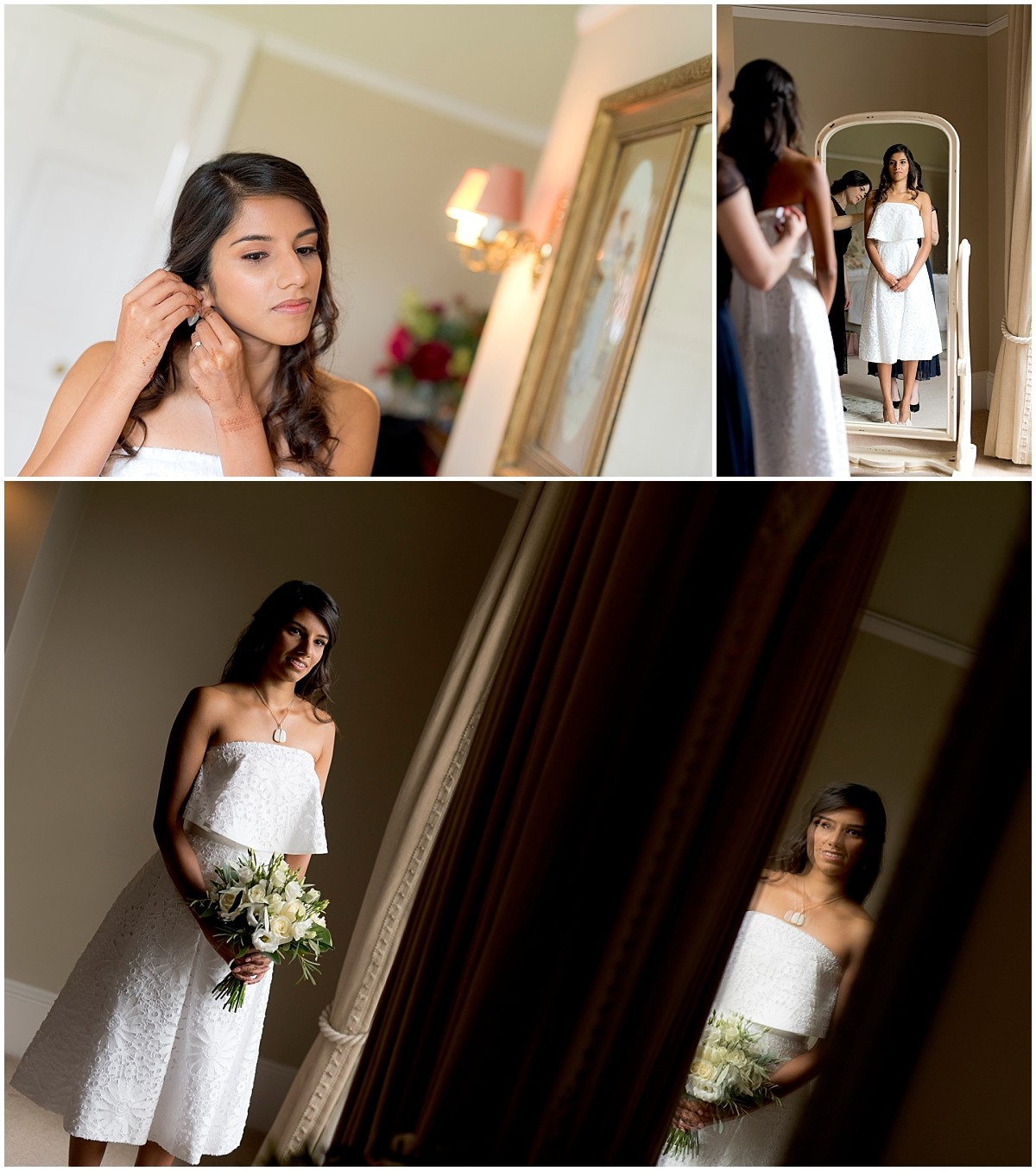 Yeldersley Hall Wedding bridal portraits