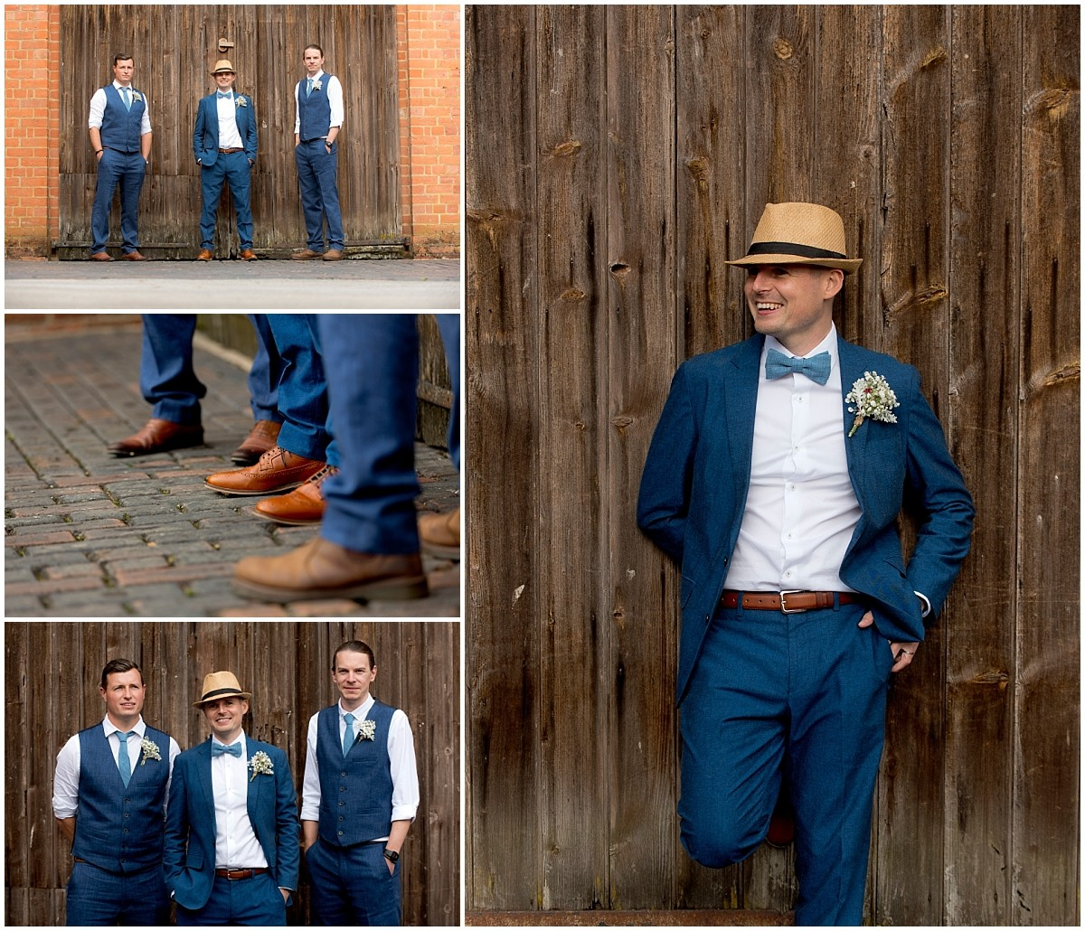 Groom portraits at Yeldersley Hall