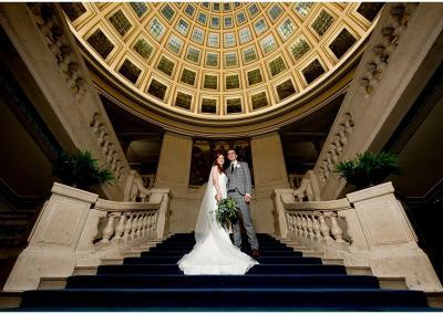 Nottinghams Council House grand staircase couple portrait