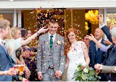 Nottinghams Council House wedding confetti photograph