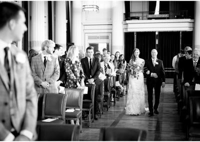 Walking down the aisle at Nottinghams Council House