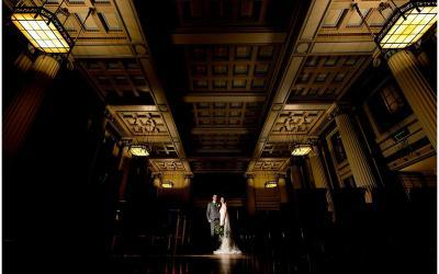 An elegant winter wedding at Nottingham's Council House