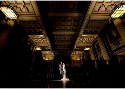 Wedding at Nottingham's Council House bride and groom portrait