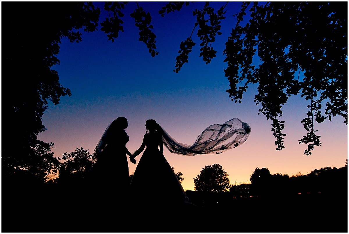 Best Nottingham Wedding Photographer sunset portrait