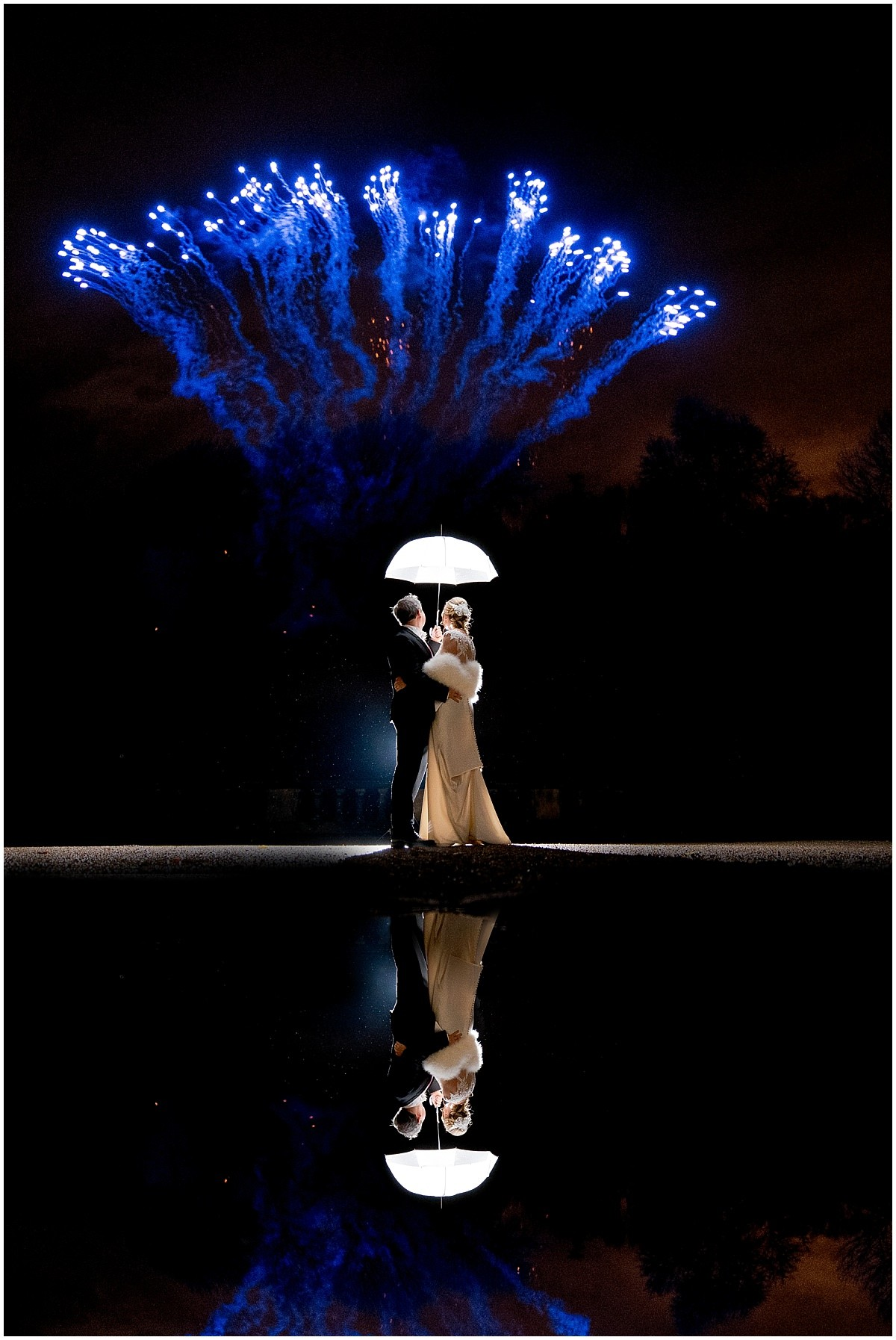 Best Nottingham Wedding Photographer fireworks