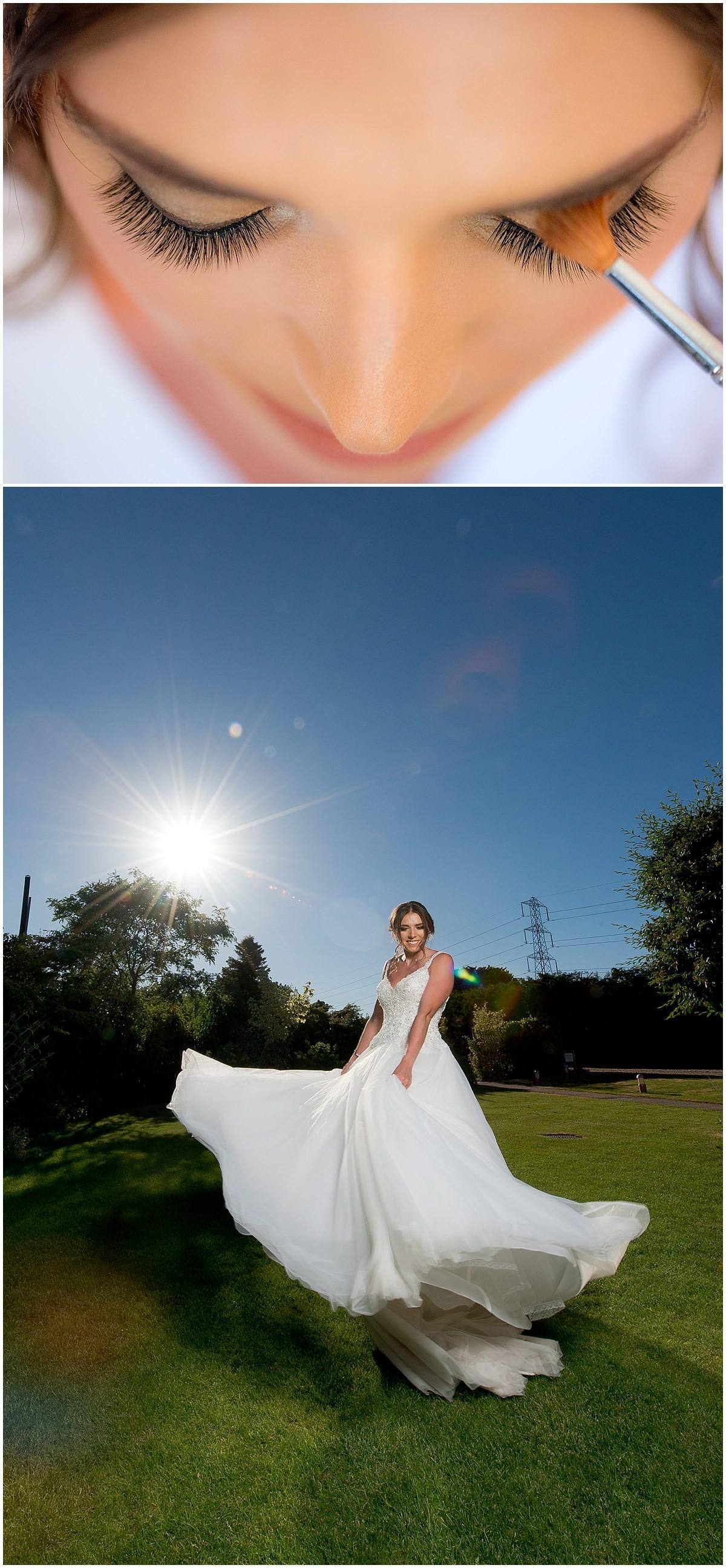 Bride dress swing