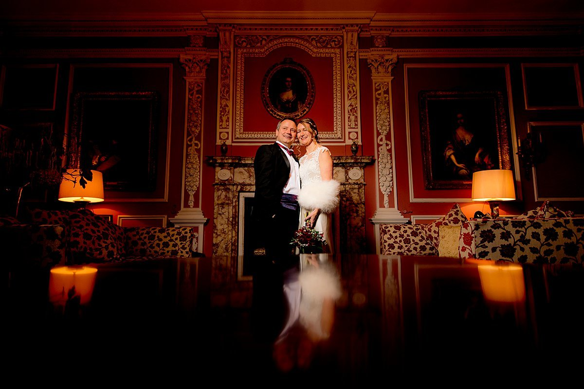 Thrumpton Hall Bride and groom portrait