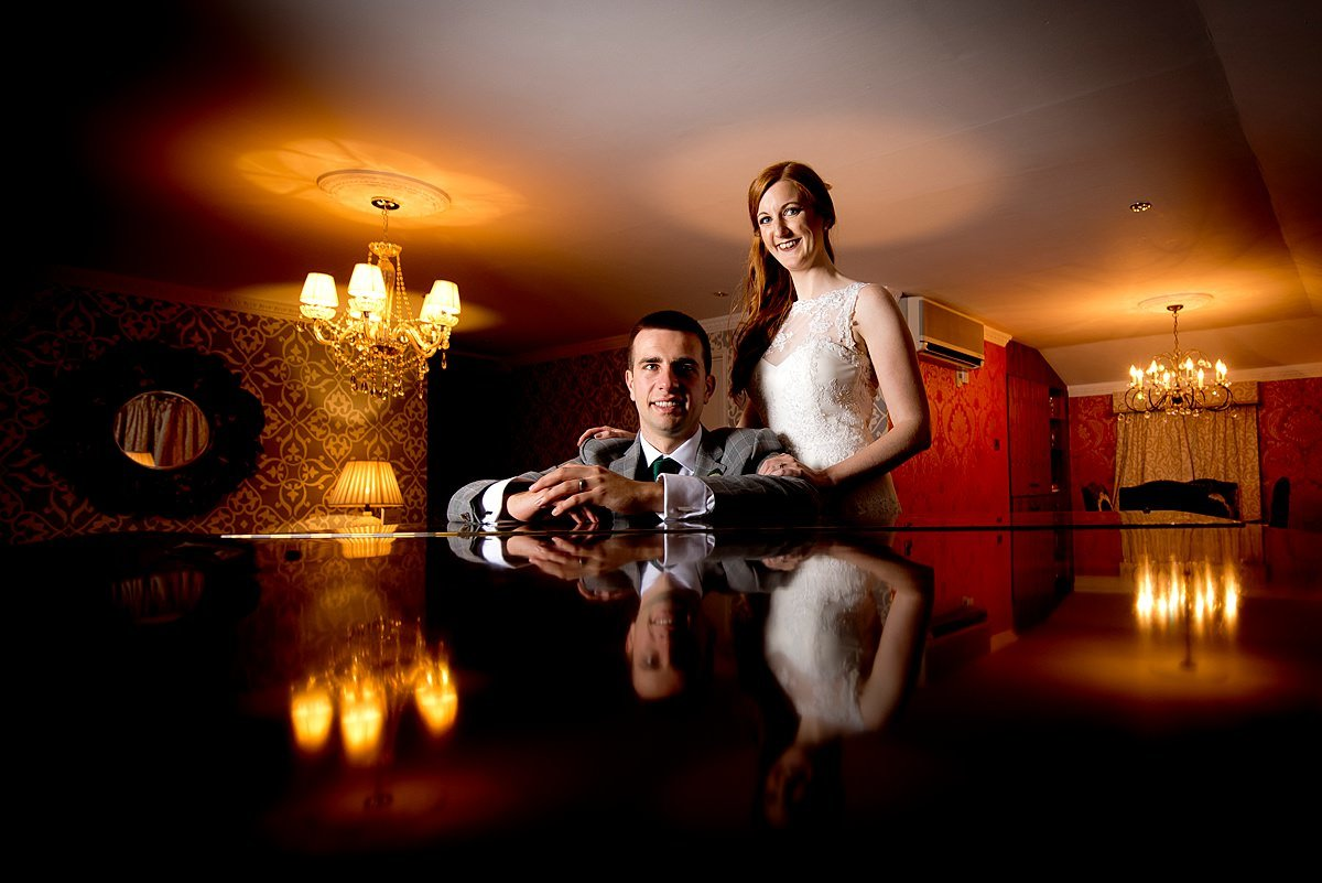 Stjames Hotel Bride and groom portrait