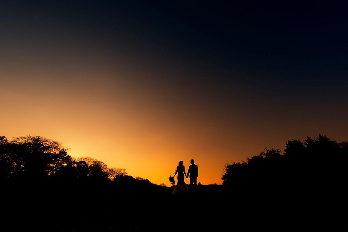 Hazel Gap Barn Silhouette sunset