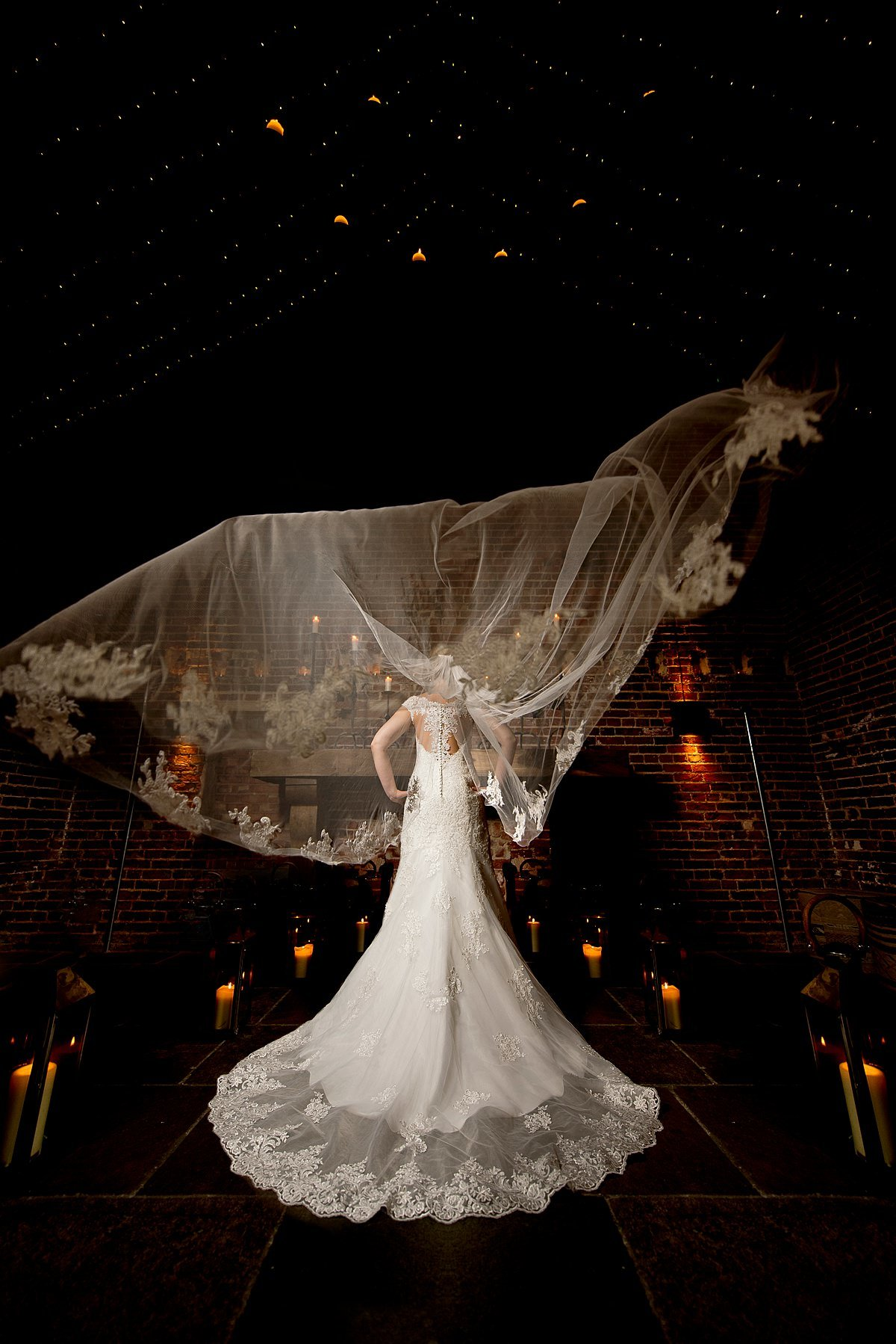 Hazel Gap Barn Brides Veil