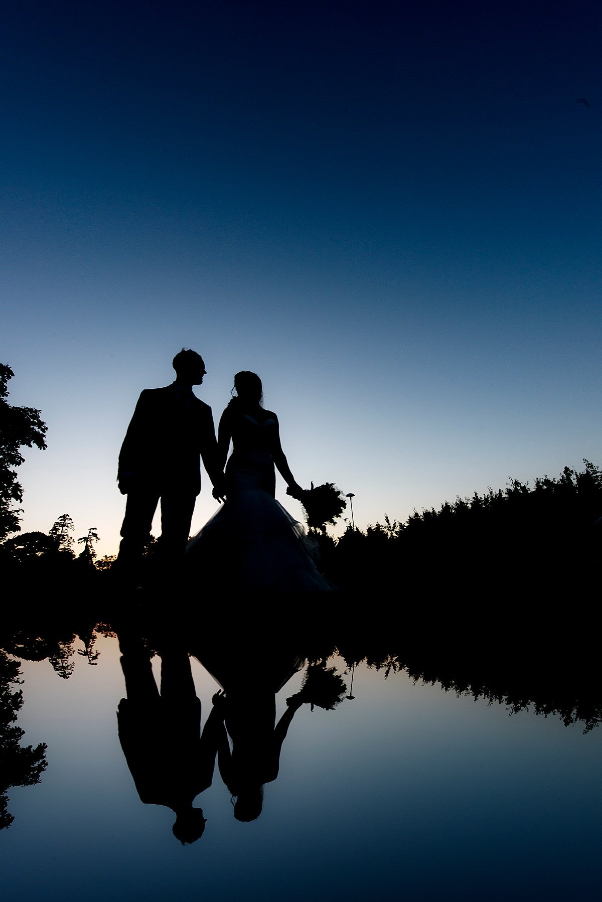 Matt Selby Photography wedding silhouette