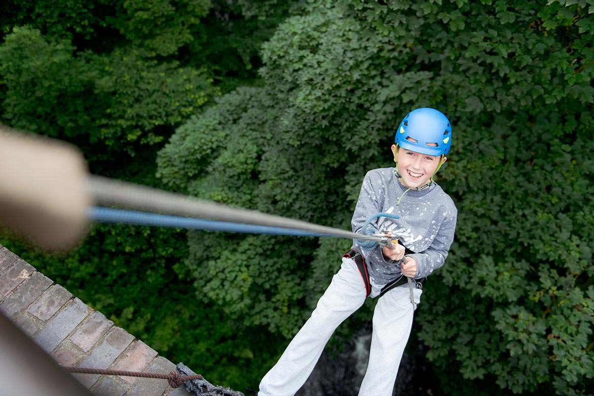 Happy abseiling
