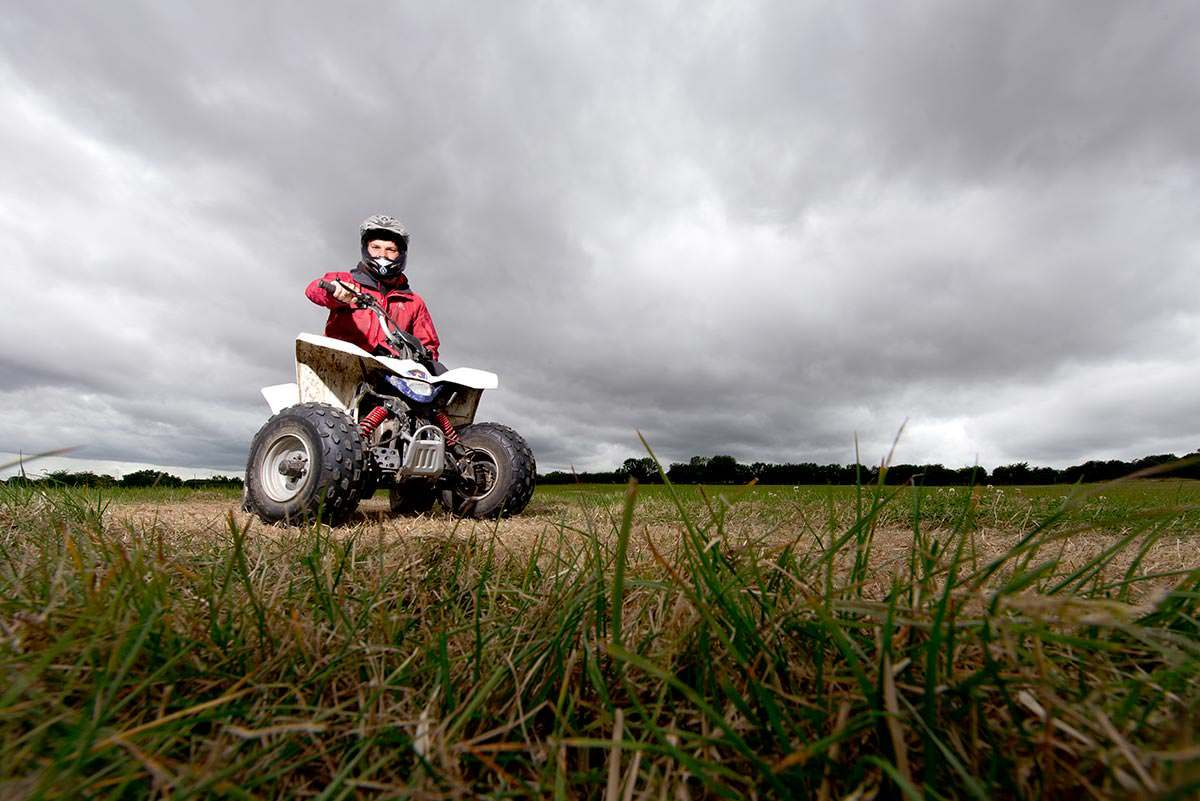 Commercial Photography Nottingham & Derby Quad biker