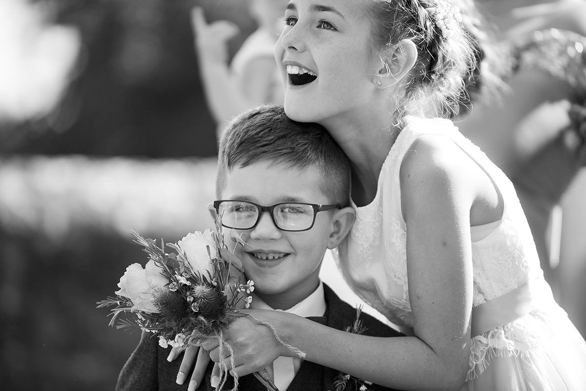 Documentary wedding photography in Nottingham & Derby sibling love