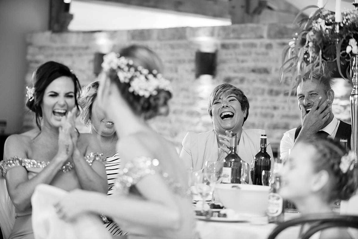 Documentary wedding photography Laughter