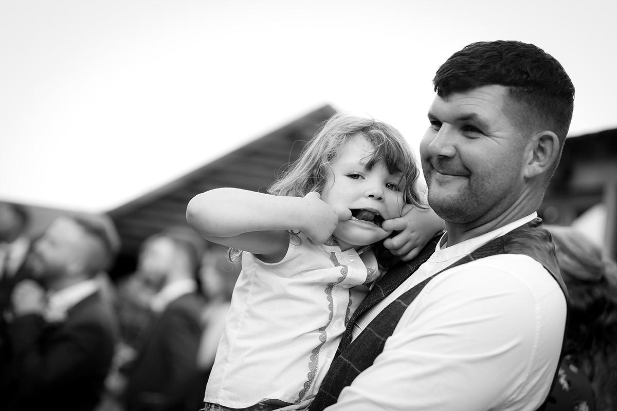 Documentary wedding photography in Nottingham silly face