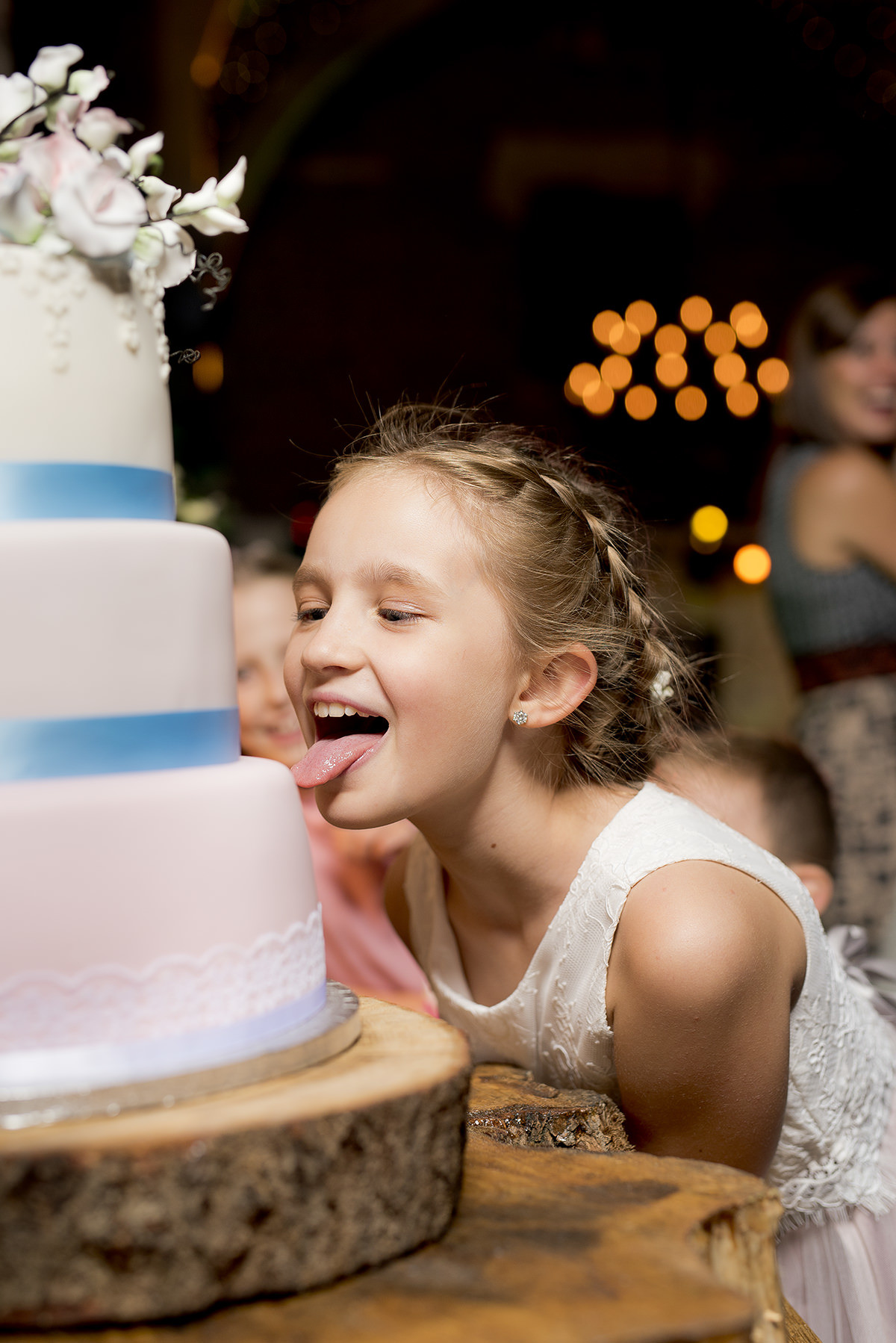 Licking the cake Documentary wedding photography in Nottingham & Derby