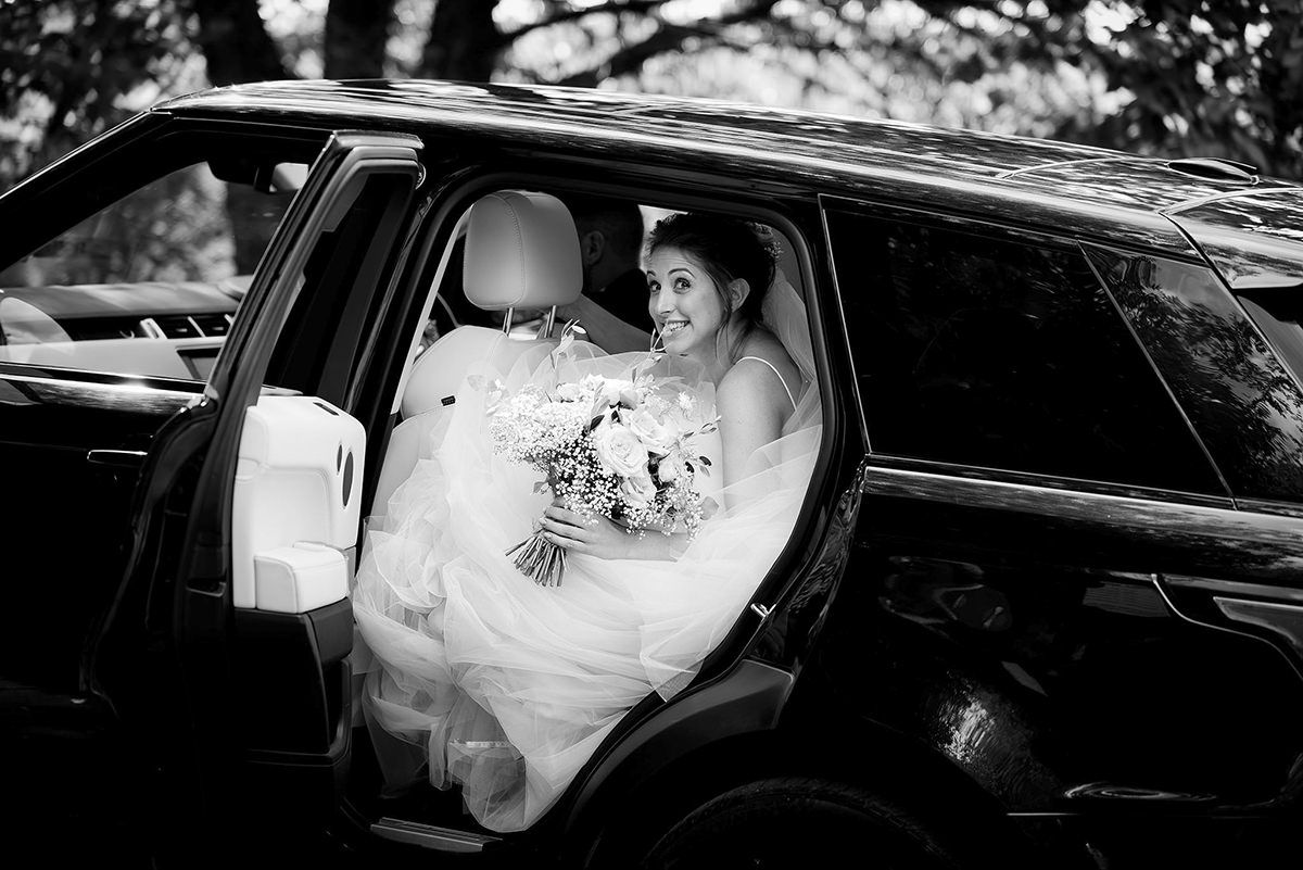 Documentary wedding photography in Derby bridal arrival
