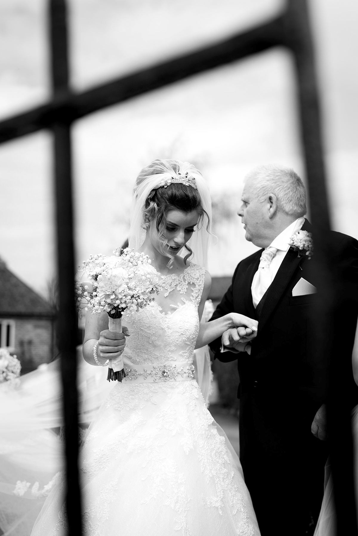 Documentary wedding photography in Nottingham Bride arrival
