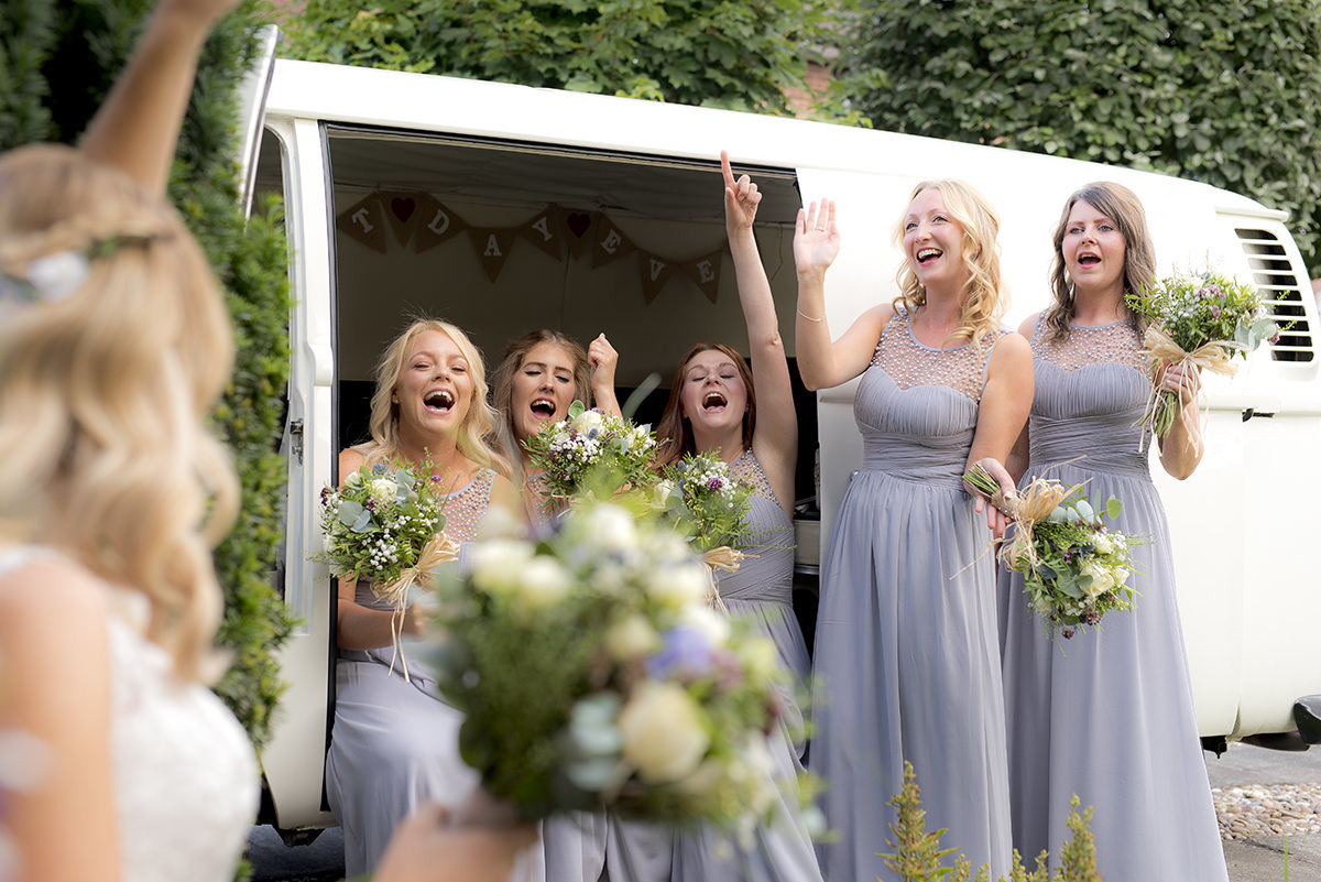 singing bridesmaids