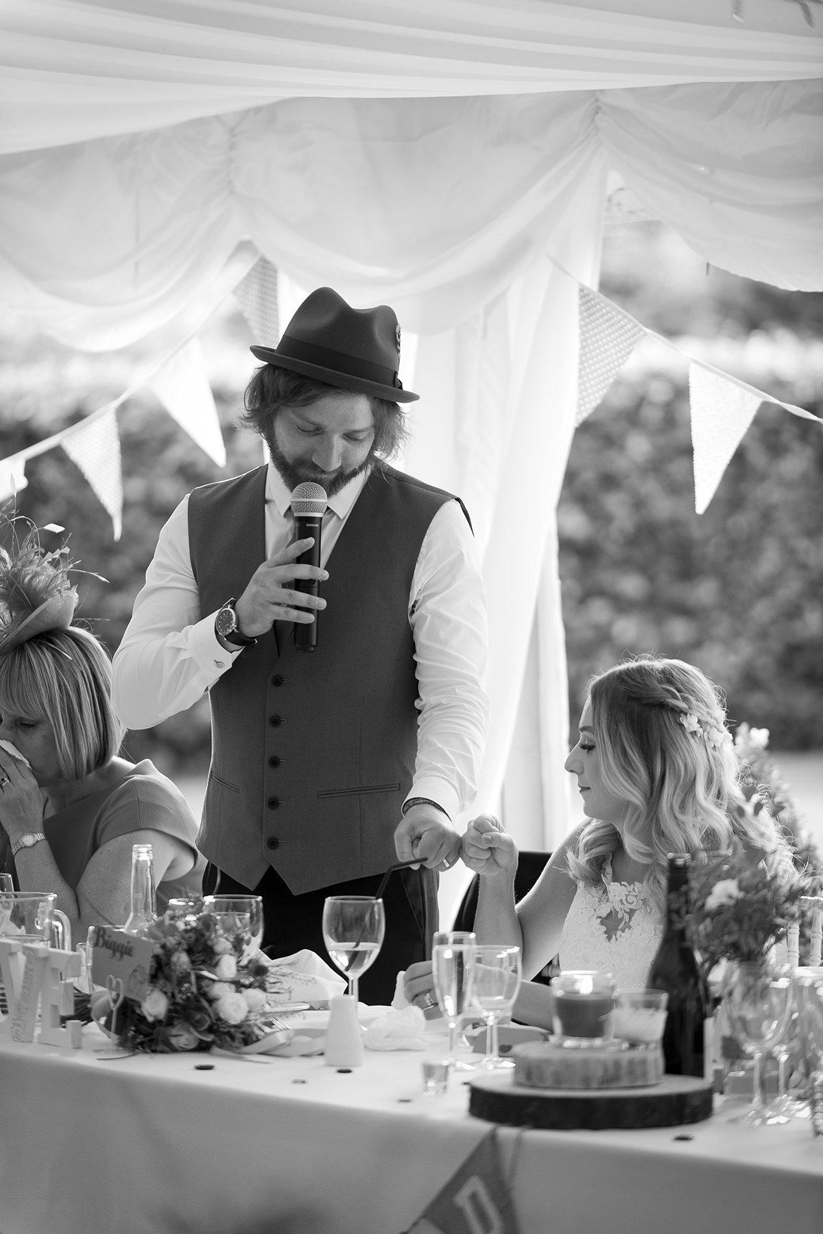 Bride and groom fist pump