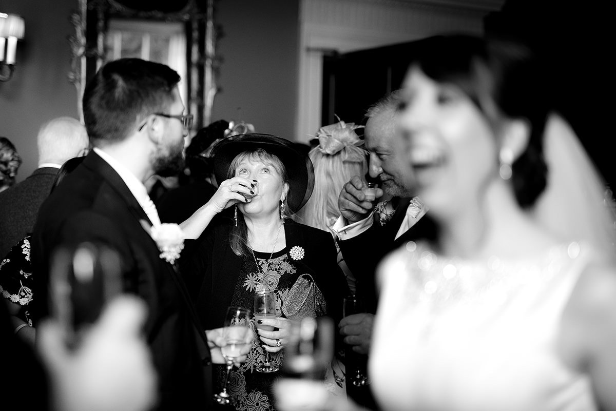 mother of the bride doing shots