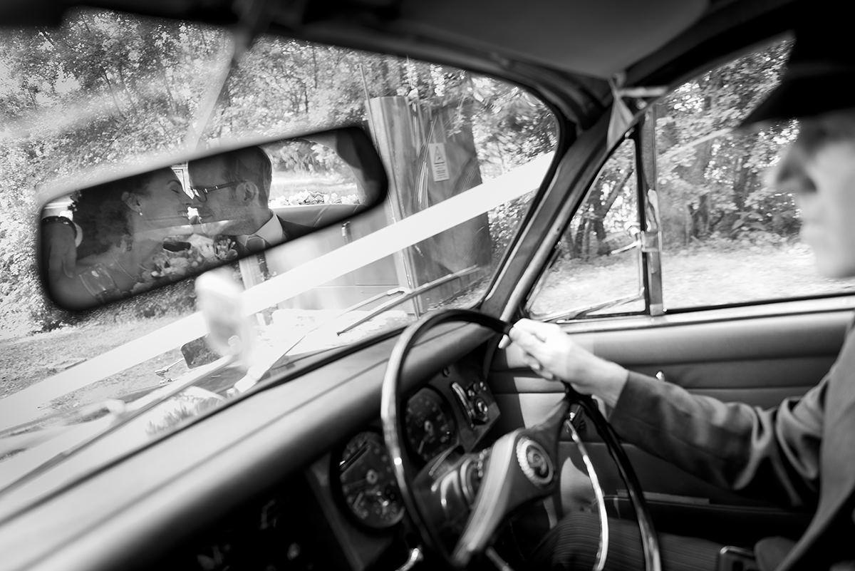 Wedding car journey