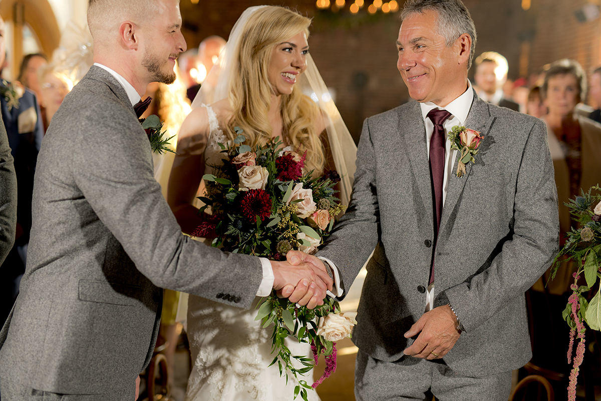 Handshake at the ceremony
