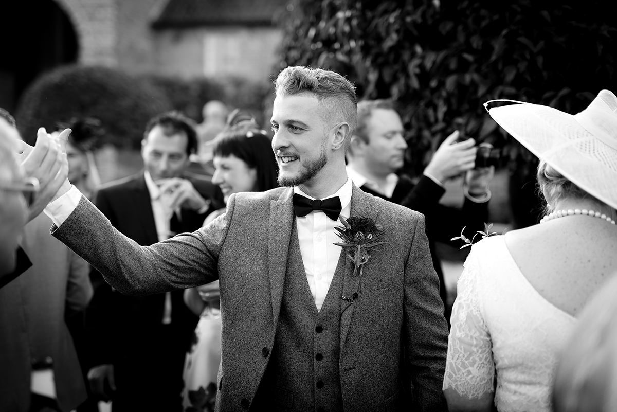 Handshake groom