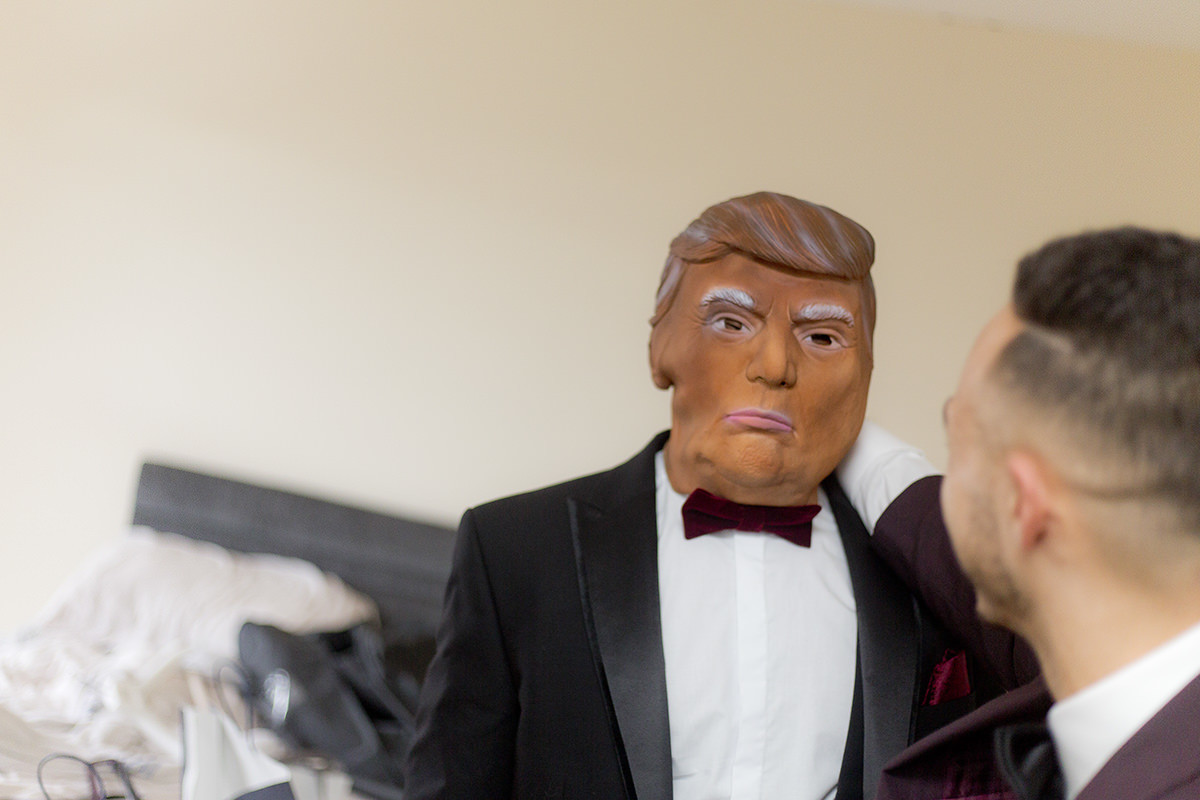 Donald Trump at a wedding in Nottingham