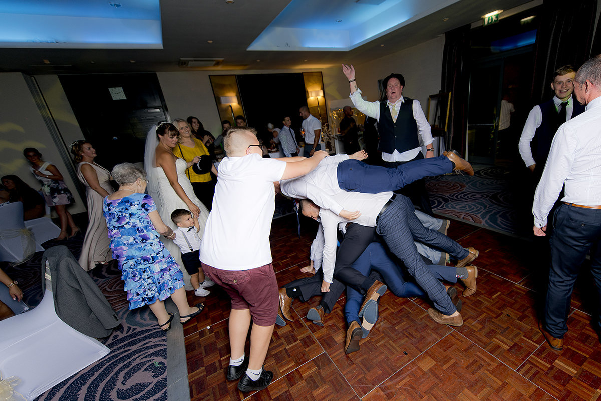 Pile on the dance floor
